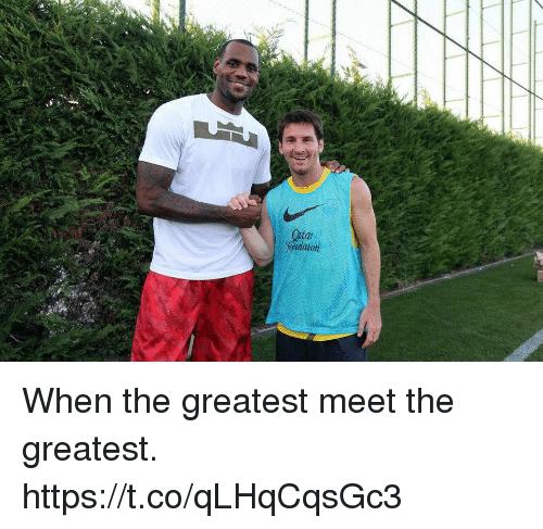 Memes, 🤖, and Greatest: fondaton When the greatest meet the greatest. https://t.co/qLHqCqsGc3