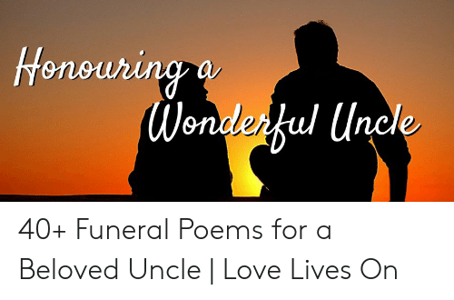 Funeral Poems For Uncle 2