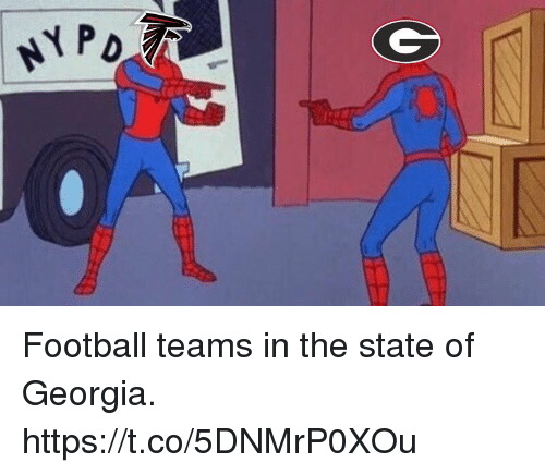 Football, Memes, and Georgia: Football teams in the state of Georgia. https://t.co/5DNMrP0XOu