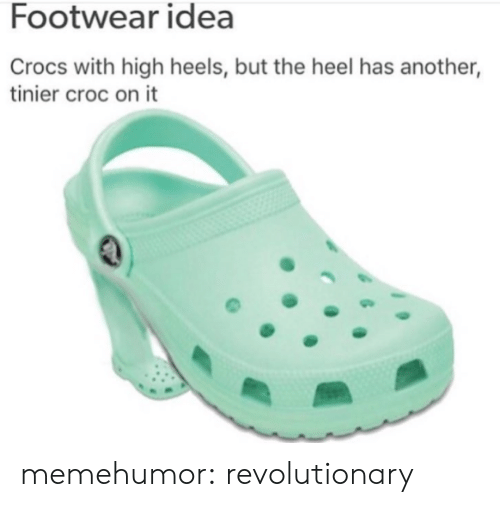 bb94d51d0966 Footwear Idea Crocs With High Heels but the Heel Has Another Tinier ...