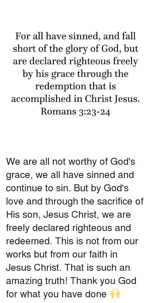 Fall From Grace, Redeemed By Faith