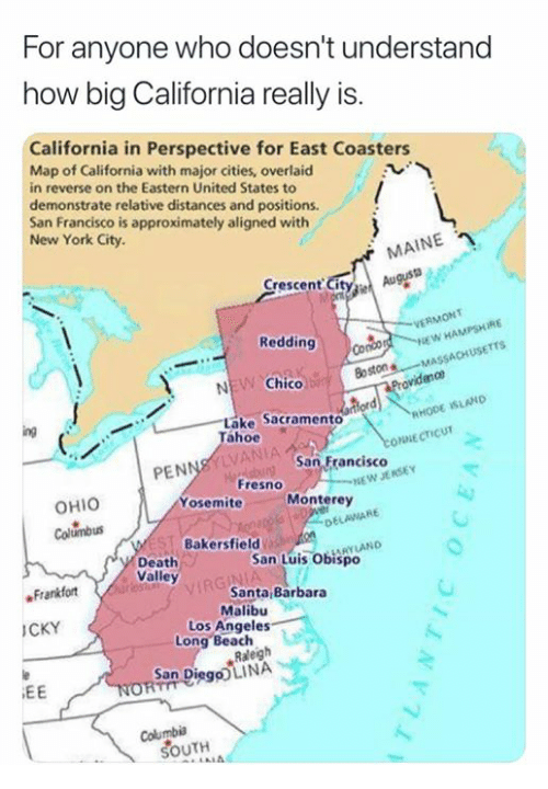 For Anyone Who Doesn't Understand How Big California Really Is