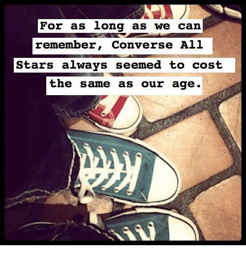 db6fb94e179e For as Long as We Can Remember Converse All Stars Always Seemed to ...