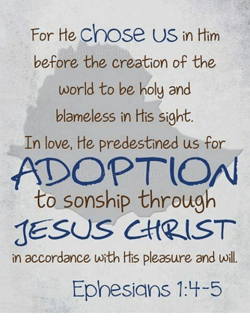 For He Chose Us in Him Before the Creation of the World to Be Holy ...