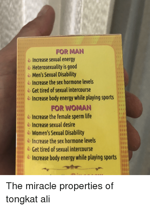How to increase sexual energy in men