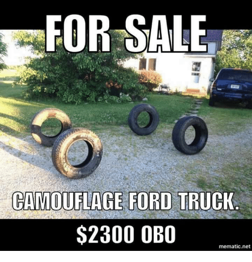 For Sale Camouflage Ford Truck 2300 Obo Mematic Net Ford Meme On