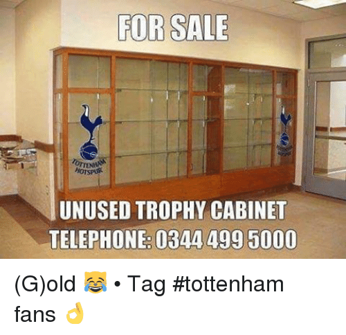 Soccer Tagged And Old FOR SALE HOTSPAR UNUSED TROPHY CABINET TELEPHONE 0344