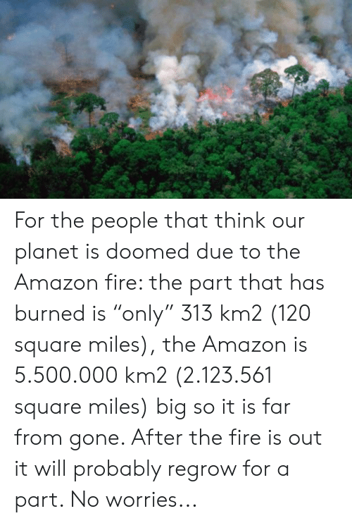 For the People That Think Our Planet Is Doomed Due to the