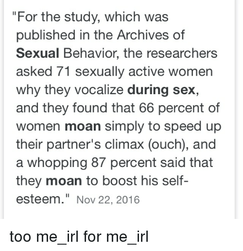 Why women moan during sex are