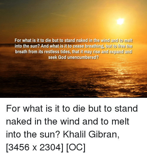 Stand Naked in the Wind