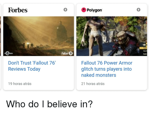 Forbes Polygon 4 6 Don't Trust 'Fallout 76 Reviews Today
