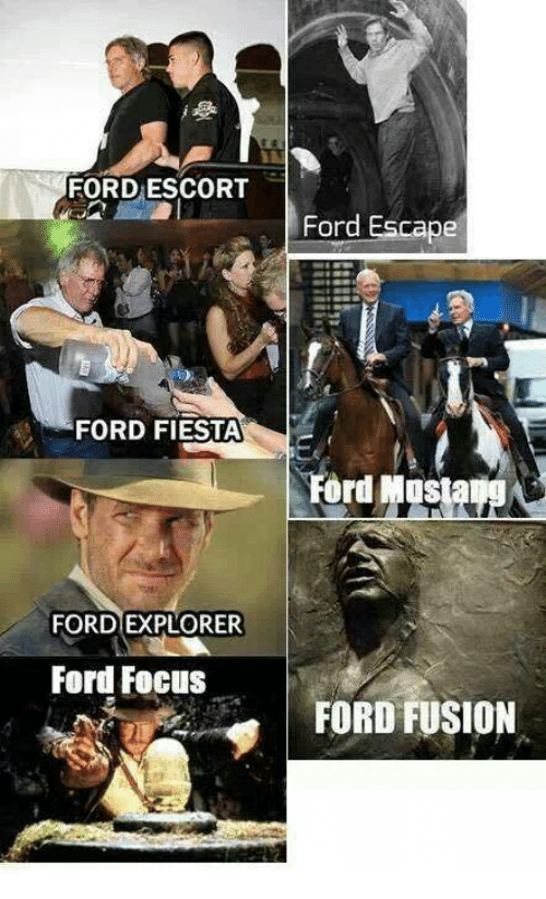 Dank, Ford, and 🤖: FORD ESCORT  FORD FIESTA  Ford Mostatg&  FORD EXPLORER  ford FoclisFORD FUSION