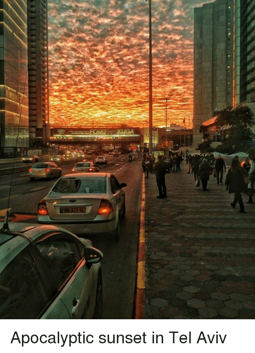 ford kuga apocalyptic sunset in tel aviv 21240813 ford kuga apocalyptic sunset in tel aviv meme on me me