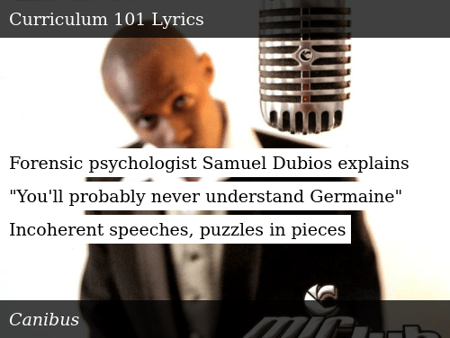 Forensic Psychologist Samuel Dubios Explains You Ll Probably Never Understand Germaine Incoherent Speeches Puzzles In Pieces Donald Trump Meme On Me Me