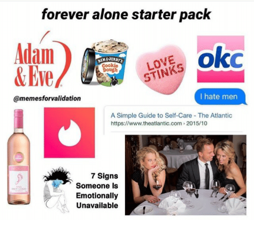 Being Alone, Love, and Forever: forever alone starter pack Adam &Eve LOVE  STINKS