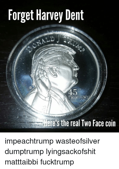 Batman Dark Knight Two Face Coin with Scratched. «
