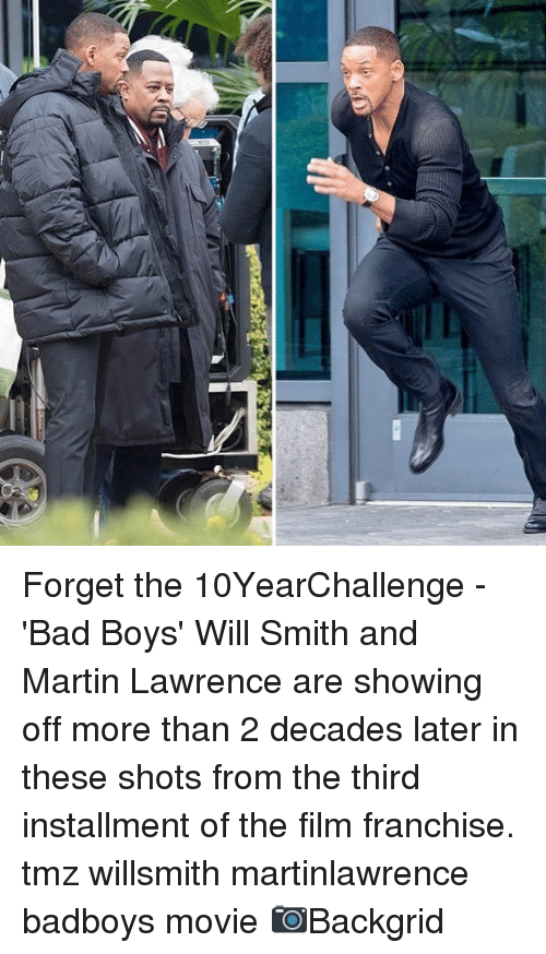 Bad, Bad Boys, and Martin: Forget the 10YearChallenge - 'Bad Boys' Will Smith and Martin Lawrence are showing off more than 2 decades later in these shots from the third installment of the film franchise. tmz willsmith martinlawrence badboys movie 📷Backgrid