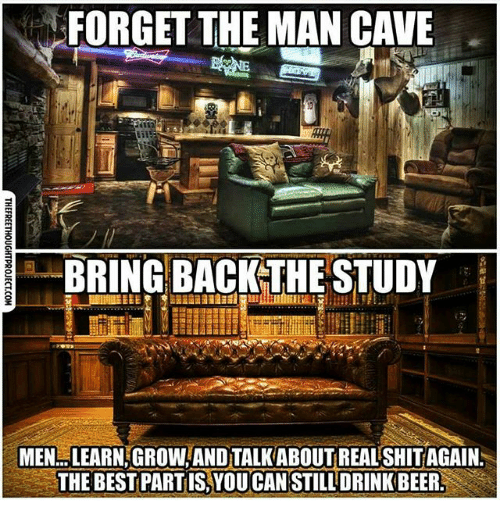 Man Cave Study Room : Forget the man cave bring back study menlearngrow