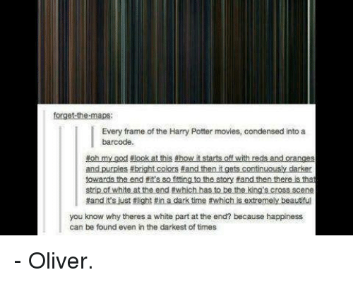 Forget-The-Maps Every Frame of the Harry Potter Movies Condensed ...