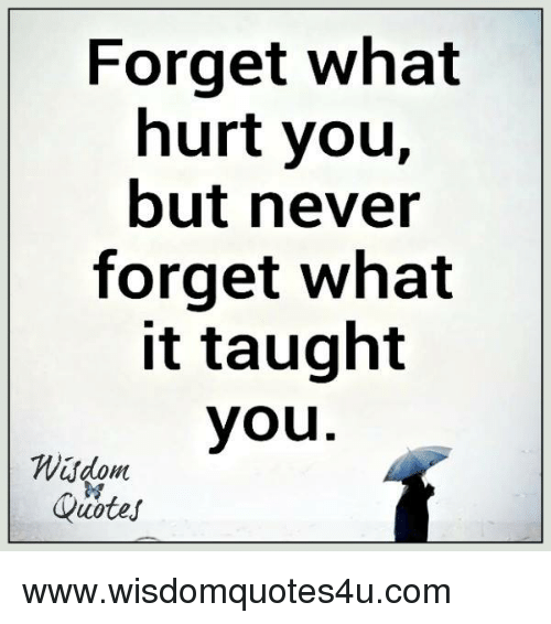 Quotes, Never, And Com: Forget What Hurt You, But Never Forget What
