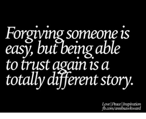 how to trust someone you love again