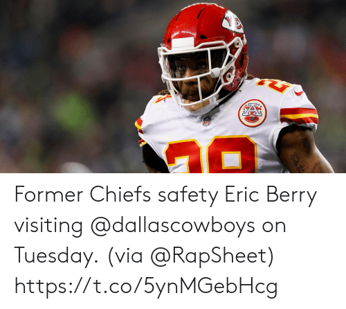 Memes, Chiefs, and 🤖: Former Chiefs safety Eric Berry visiting @dallascowboys on Tuesday.  (via @RapSheet) https://t.co/5ynMGebHcg