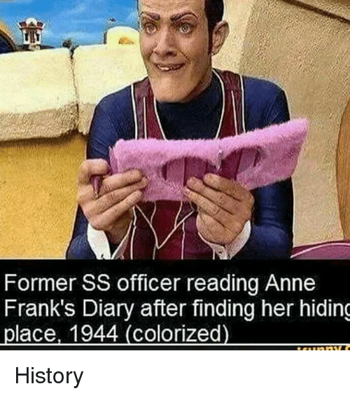 former ss officer reading anne franks diary after finding her 31646451 frank wishes you happy birthday memes com franks meme on me me