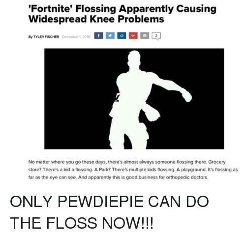 Fortnite Flossing Apparently Causing Widespread Knee Problems By