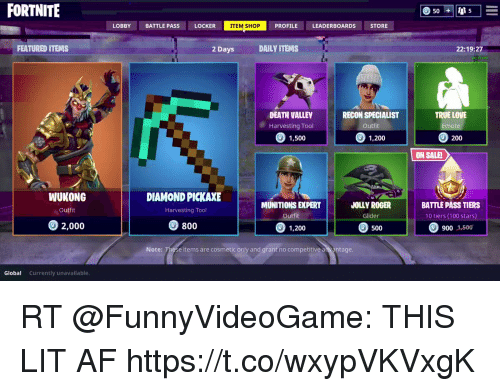 fortnite lobby locker profile leaderboards store store battle pass item shop featured items 2 days dailv - current items in fortnite store