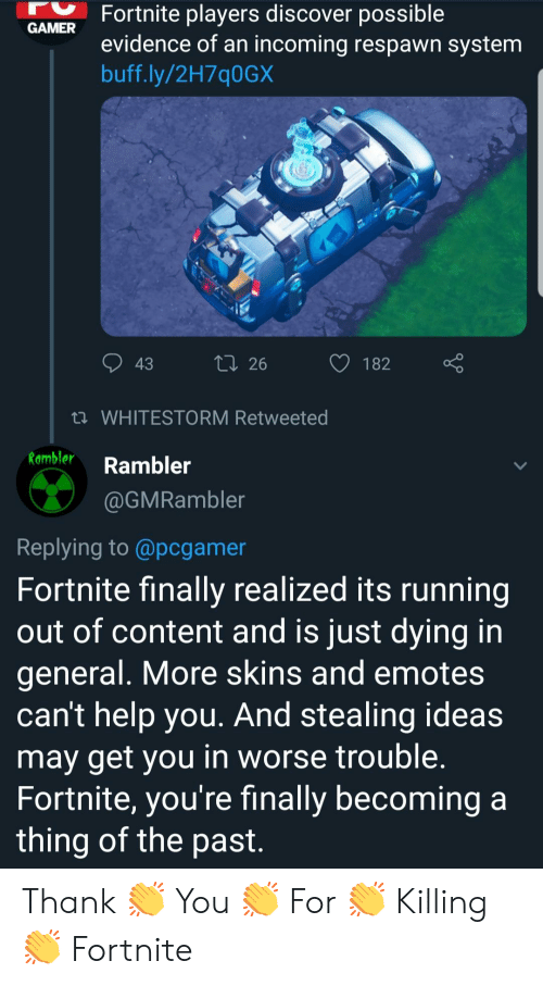 Fortnite Players Discover Possible Evidence Of An Incoming Respawn