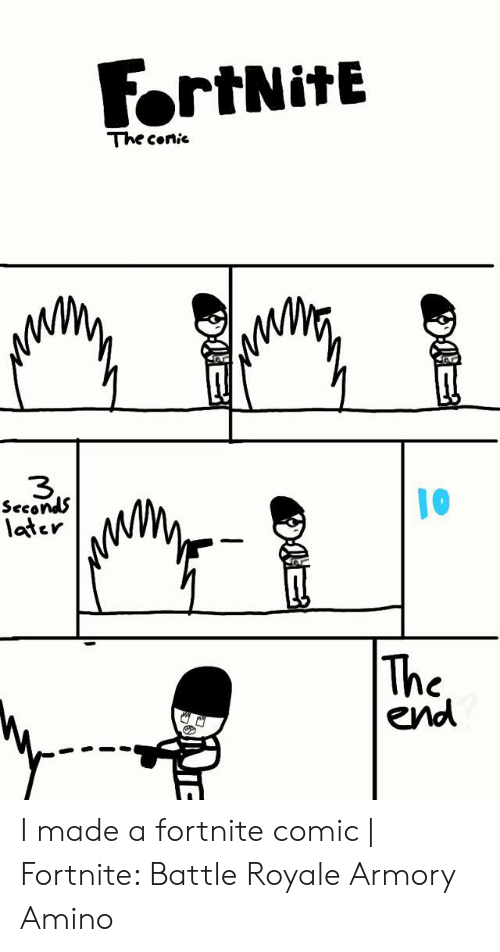 Fortnite The Conie 3 Seconds 10 Later End I Made A Fortnite Comic