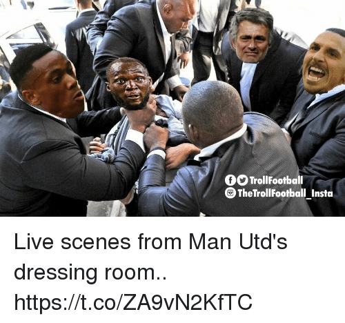 Memes, Live, and 🤖: fOTrollFootball  TheTrollFootball Insta Live scenes from Man Utd's dressing room.. https://t.co/ZA9vN2KfTC