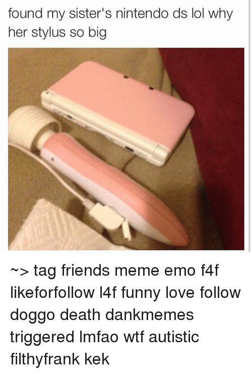 Emo Memes And Nintendo Found My Sisters Nintendo Ds Lol Why Her Stylus