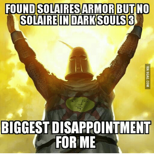 FOUND SOLAIRES ARMOR BUT NO SOLAIRE IN DARK SOULS 3
