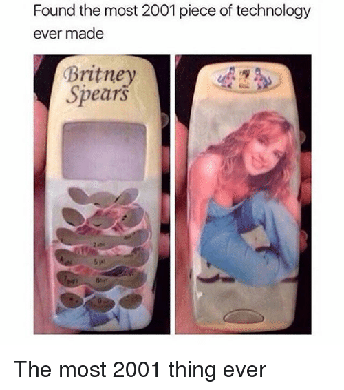 Britney Spears, Memes, and Technology: Found the most 2001 piece of technology  ever made  Britney  Spearš The most 2001 thing ever