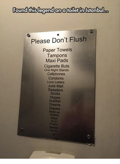 Condoms flushed toilet opinion, you