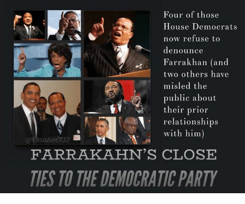 four of those house democrats now refuse to denounce farrakhan 31508646 four of those house democrats now refuse to denounce farrakhan and