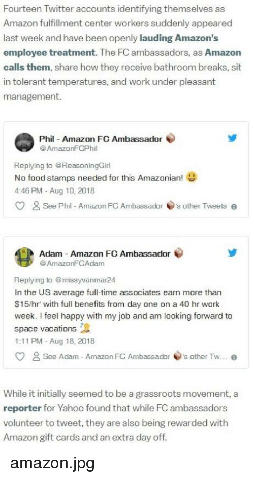 Fourteen Twitter Accounts Identifying Themselves as Amazon