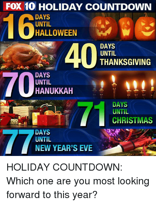 FOX 10 HOLIDAY COUNTDOWN DAYS UNTIL HALLOWEEN 400 DAYS UNTIL ...