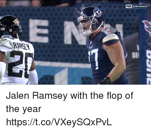 Nfl, Fox, and Ramsey: FOX  20  SE Jalen Ramsey with the flop of the year  https://t.co/VXeySQxPvL