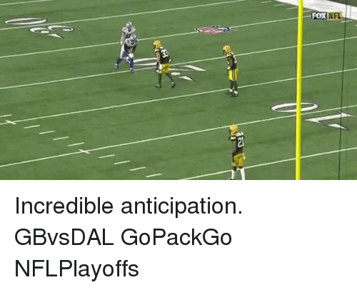 Memes, 🤖, and Fox: FOX  N Incredible anticipation. GBvsDAL GoPackGo NFLPlayoffs