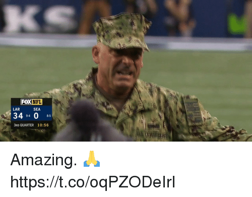 Memes, Nfl, and Amazing: FOX NFL  LAR  SEA  34 94 0 85  3RD QUARTER 10:56 Amazing. 🙏 https://t.co/oqPZODeIrl