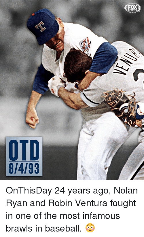 Baseball, Memes, and Sports: FOX SPORTS OTD 8/4/93 OnThisDay