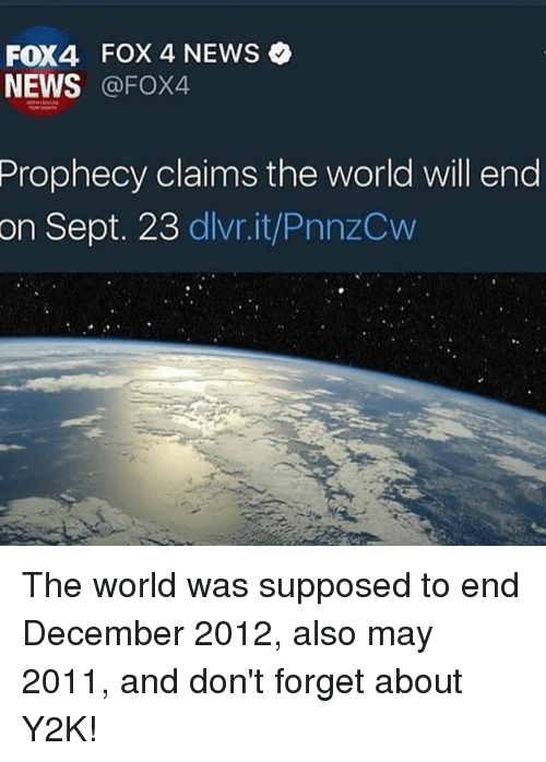 Fox4 Fox 4 News News Prophecy Claims The World Will End On Sept 23