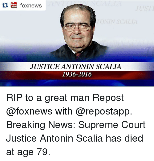 Antonin Scalia Quotes: Search Justice Scalia Memes On Me.me
