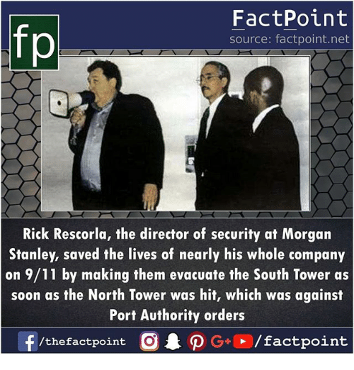 Fp Factpoint Source Factpointnet Rick Rescorla The Director Of Security At Morgan Stanley Saved