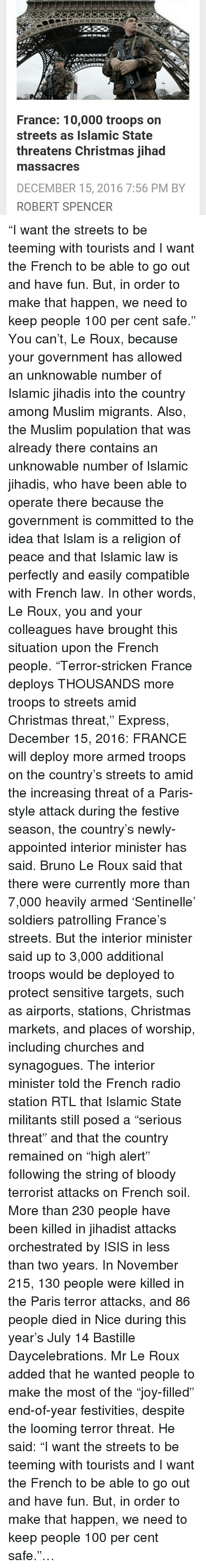 France 10000 Troops on Streets as Islamic State Threatens Christmas ...