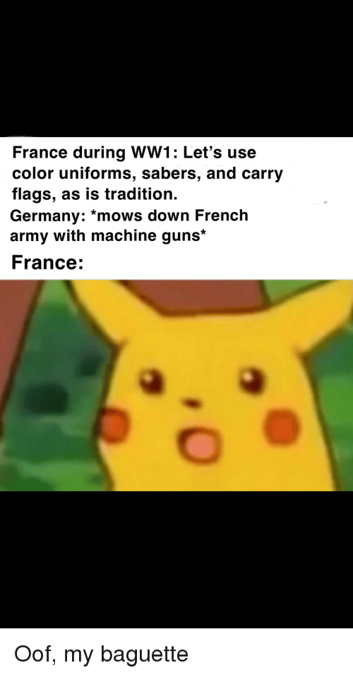France During WW1 Let's Use Color Uniforms Sabers and Carry