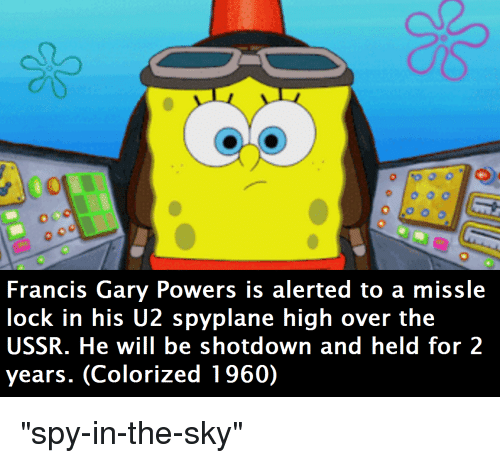 Francis Gary Powers Is Alerted to a Missle Lock in His U2