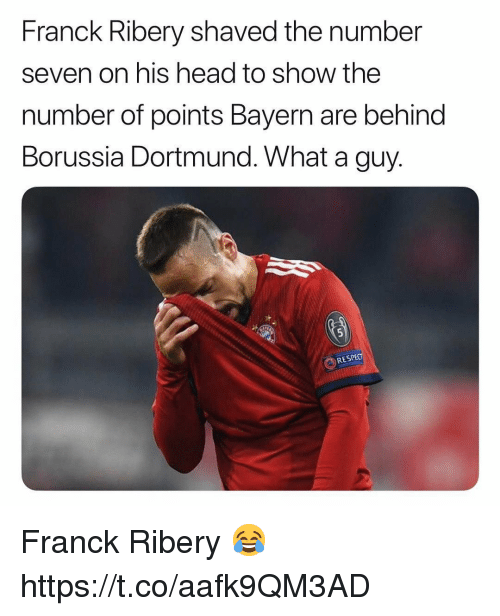 Franck Ribery Shaved The Number Seven On His Head To Show The Number